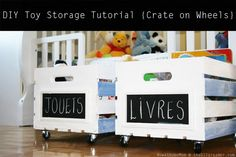 DIY Toy Storage Tutorial {Crate on Wheels}