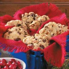 """""""Winning Cranberry Chip Cookies""""  A great way to use those cranberries and a fun cookie too!"""