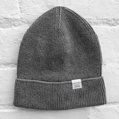 d98322f59cb Norse Projects Cotton Watch Beanie Charcoal Melange