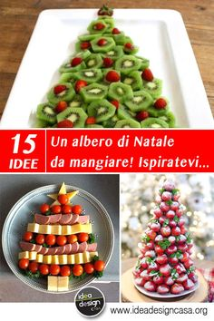 Un albero di Natale da mangiare! Ecco 15 idee creative per ispirarvi. A Christmas tree to eat! Here are 15 creative ideas to inspire you . A Christmas tree to eat. Are you looking for creative ide Christmas Dishes, Christmas Goodies, Christmas Tree, Antipasto, Christmas Wonderland, Grease Themed Parties, Potluck Dishes, Party Snacks, Holiday Desserts