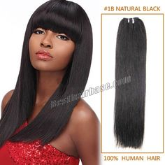 7A Straight Natural Brazilian Hair Weave in #1B Natural Black 100g/pc 14-32 inch Machine Double Wefts Women Hair Extension