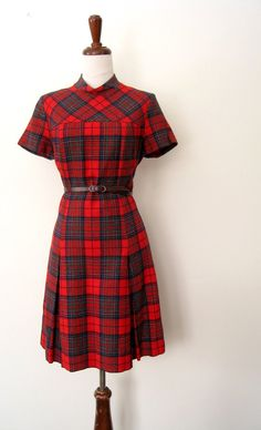 Vintage pendleton dress~yes I did have one of these...I was a huge lover of plaid...still am....