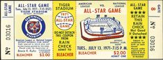 1971 all-star game (yellow) Baseball Tickets, League Gaming, Sports Logos, All Star, Detroit, Stars, Games, Yellow, Projects
