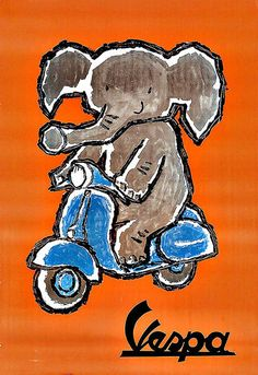 Art Ad Vespa Scooters Scooter Deco Poster Print
