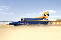 Bloodhound SSC, is a car created by the international education initiative 'BLOODHOUND Project'to attempt a 1,000 mph world land speed record.
