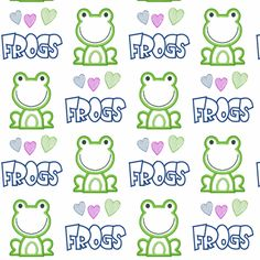 Who Doesn't LOVE Frogs fabric by vos_designs on Spoonflower - custom fabric