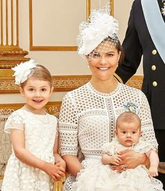 Crown Princess Victoria of Sweden, Prince Oscar, and Princess Estelle