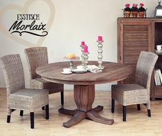 Dunkles Holz, massiv aber dennoch filigran und edel. Das kann nur #Esstisch im #Landhausstil. Mit diesem Tisch wird das #Esszimmer zum absoluten Hingucker!