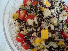 Quinoa & Black Bean Salad with Orange-Lime Vinaigrette