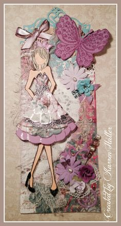 Purple Doll 6. --  via qhmyheartsie.com        Wendy Schultz - Prima Doll Stamps.