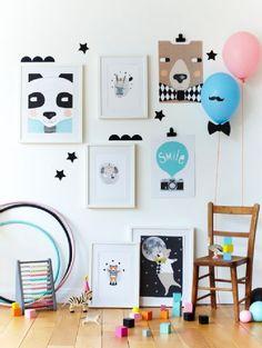 domdom, lastenhuone, juliste, grafiikka, sisustusidea