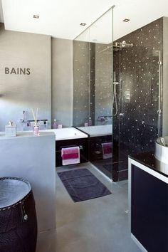 Harmonie de couleurs côté salle de bains