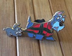 Disney Trading Pin Very RARE Jock Scamp Lady and The Tramp Dogs Christmas Lot | eBay