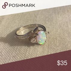 Vintage Avon Ring Vintage sterling silver and opal (I believe synthetic opal) ring. Avon Jewelry Rings