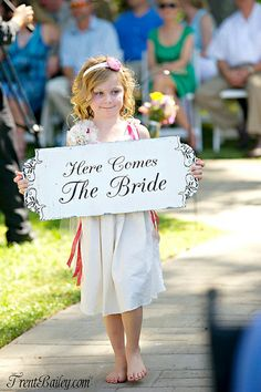 Gorgeous hand crafted wedding signs {The Wedding Mile's Seller Spotlight: Nana of The Family Attic Shoppe}