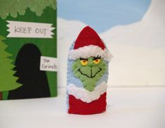 Grinch+Finger+Puppet+by+raindropstops+on+Etsy,+$8.00