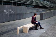 Individu le banc pour deux ou trois par Ruben Deriumaeker - Blog Esprit Design