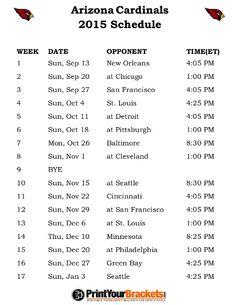...   Arizona Cardinals Schedule, Cardinals and St Louis Cardinals