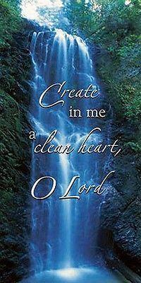Create In Me A Clean Heart Banner Follow Me Series 3 x 6' H - Christian Brands Church Supply
