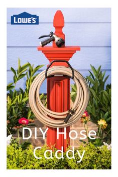 Create a Hose Caddy! Wrangle your unruly garden hose with this smart and affordable DIY storage solution. Garden Yard Ideas, Backyard Projects, Outdoor Projects, Lawn And Garden, Garden Projects, Garden Fun, Front Yard Landscaping, Landscaping Ideas, Yard Art
