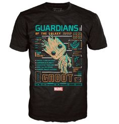 Marvel Groot Line Up Pop! Tees! T-Shirt