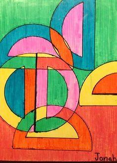Fifth Grade Frank Stella Inspired Marker Design