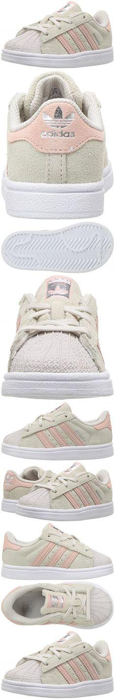 Adidas Originals Girls\u0027 Superstar I Sneaker, Pearl Grey/Ice Pink/Ice Pink