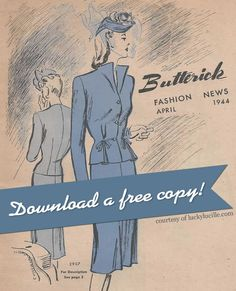 Free Download – 1944 Butterick Fashion News