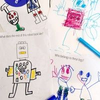 Robot Drawing Prompts - free printable (and there's more super cute ones too!!)