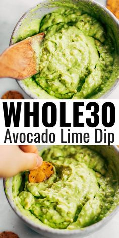 Avocado lime dip rea