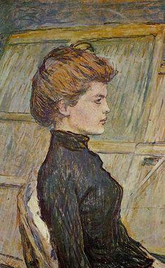 Henri de Toulouse-Lautrec - Portrait of Helen (detail), 1888 #profile #postimpressionism