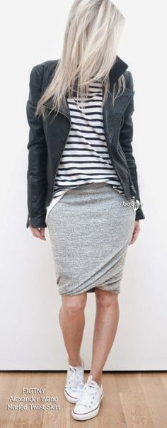 FIGTNY - Wearing Alexander Wang Marled Twist Skirt