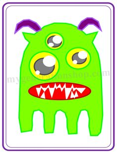 Green 4 Legged Creature Little Ones Poster by MyGenerationShop on Etsy