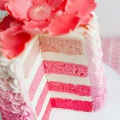 Pink party rainbow cake