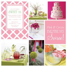Pink and Green Birthday Soiree!