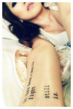 my literary tattoo. a line from the great Bukowski. #bukowski #tattoo #literary #quotes