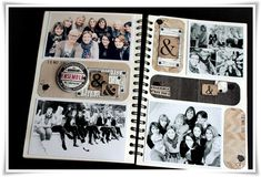 using a plain notebook-sketch book for scrapbooking - she calls this their Family Diary