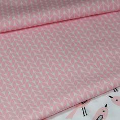 tissu imprimé graphique , motifs retro 100% coton - épis blancs sur fond rose : Tissus Habillement, Déco par pikebou