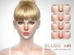The Sims Resource: Blush 03 by S-Club • Sims 4 Downloads