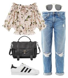 """Untitled #508"" by pocahontees ❤ liked on Polyvore featuring rag & bone, adidas, Proenza Schouler and Prada"