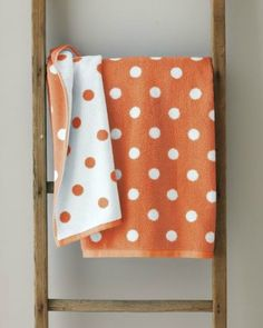 Garnet Hill Regatta Stripe Towels For The Kids Bathroom - Orange patterned towels for small bathroom ideas