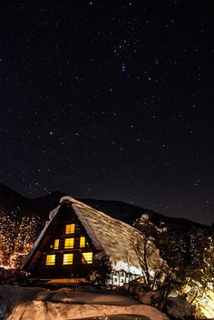 Winter night in Hist