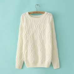 British Style Vintage Twist Sleeve Sweater \u0026Cardigan only $34.99