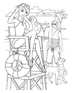 Barbie Coloring Page139