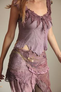 fae of the natural wild spirit wrap skirt purple by FractalWings, $189.00