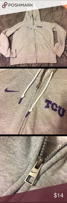 Zip up hoodie, TCU-NIKE Super comfy! Excellent condition. SIze M Nike Jackets & Coats