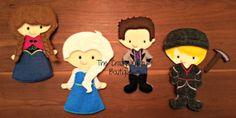 Frozen Felt Paper Doll Set by CrazyKuklaBoutique on Etsy, $75.00