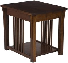 Mission end tables created by Amish craftsmen from solid hardwoods. Solid Oak Coffee Table, Coffee Table Plans, Coffee And End Tables, Mission Style End Tables, Mission Style Furniture, Wood Furniture Living Room, Table Furniture, Top Table Plan, Coffee Table Overstock