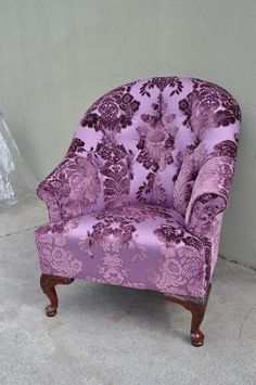 Victorian Style Curved Back Chair, 852