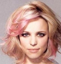 Rach McAdams - Pink hair! I weirdly love this! If I were blonde I would add the hi lights!
